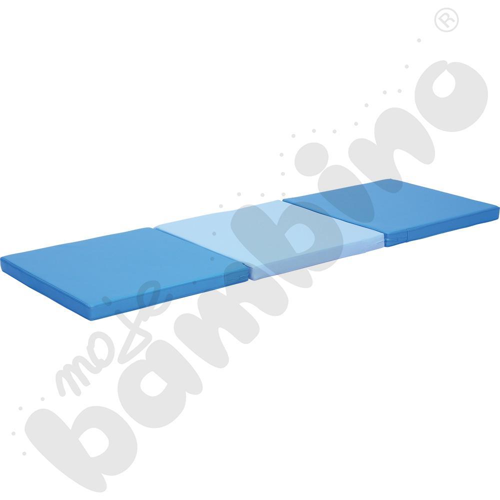 Materac 3-częściowy niebieski - kształtka rehabilitacyjna