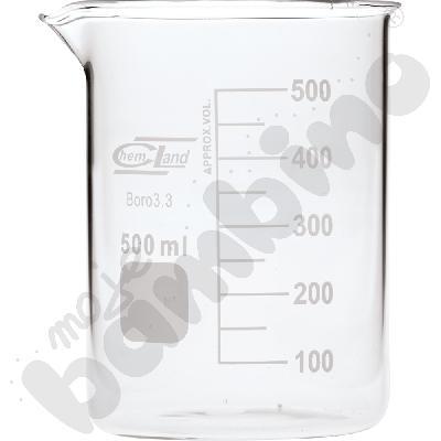 Zlewka niska szklana 500 ml