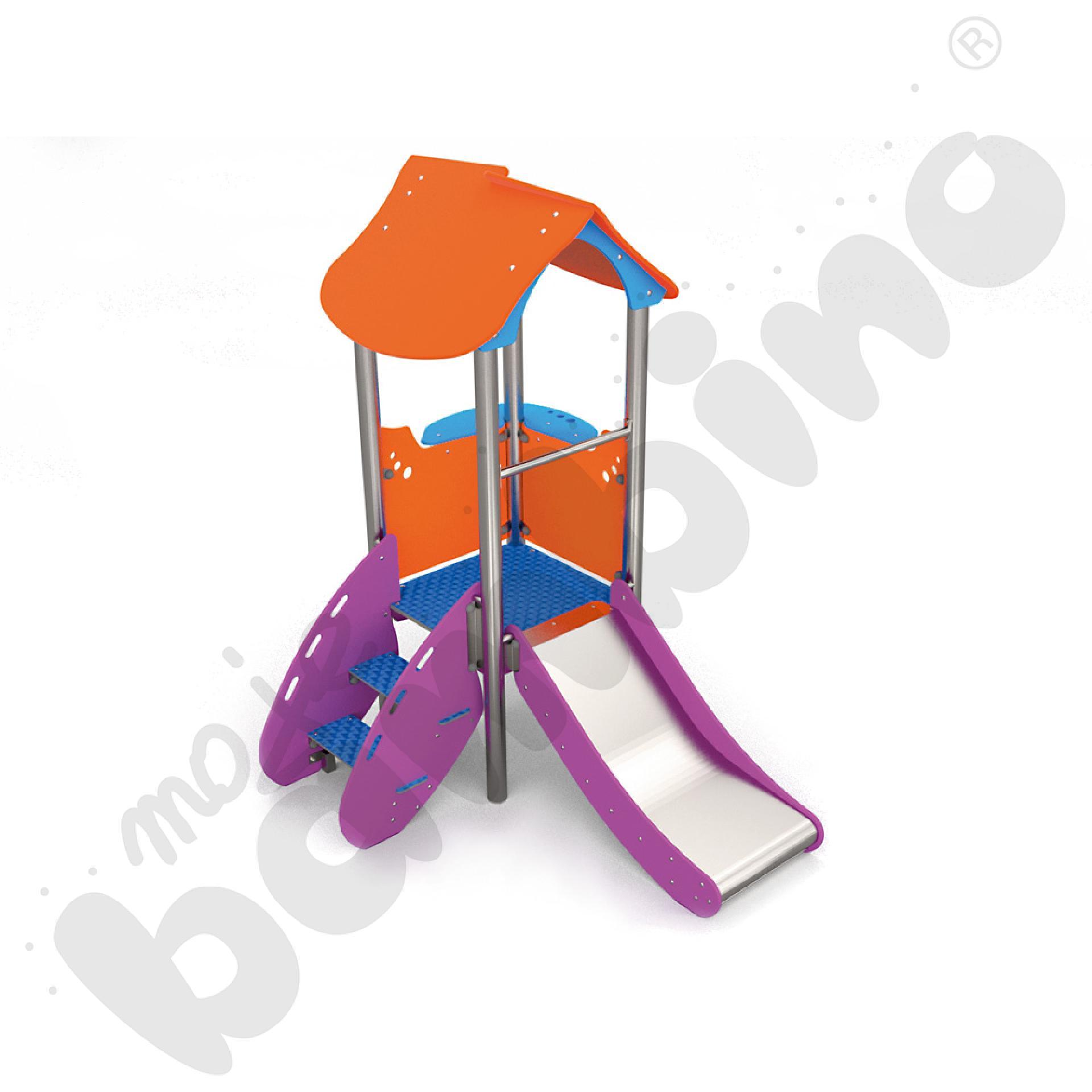 Wieża ze zjeżdżalnią insGraf- fioletowa
