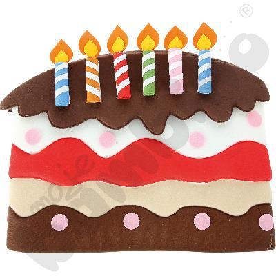 Dekoracje urodzinowe na krzesełko - tort