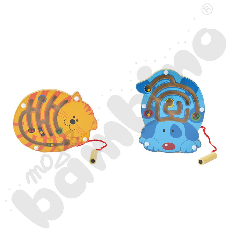 Magnetyczny  mini labirynt Zwierzątka domowe