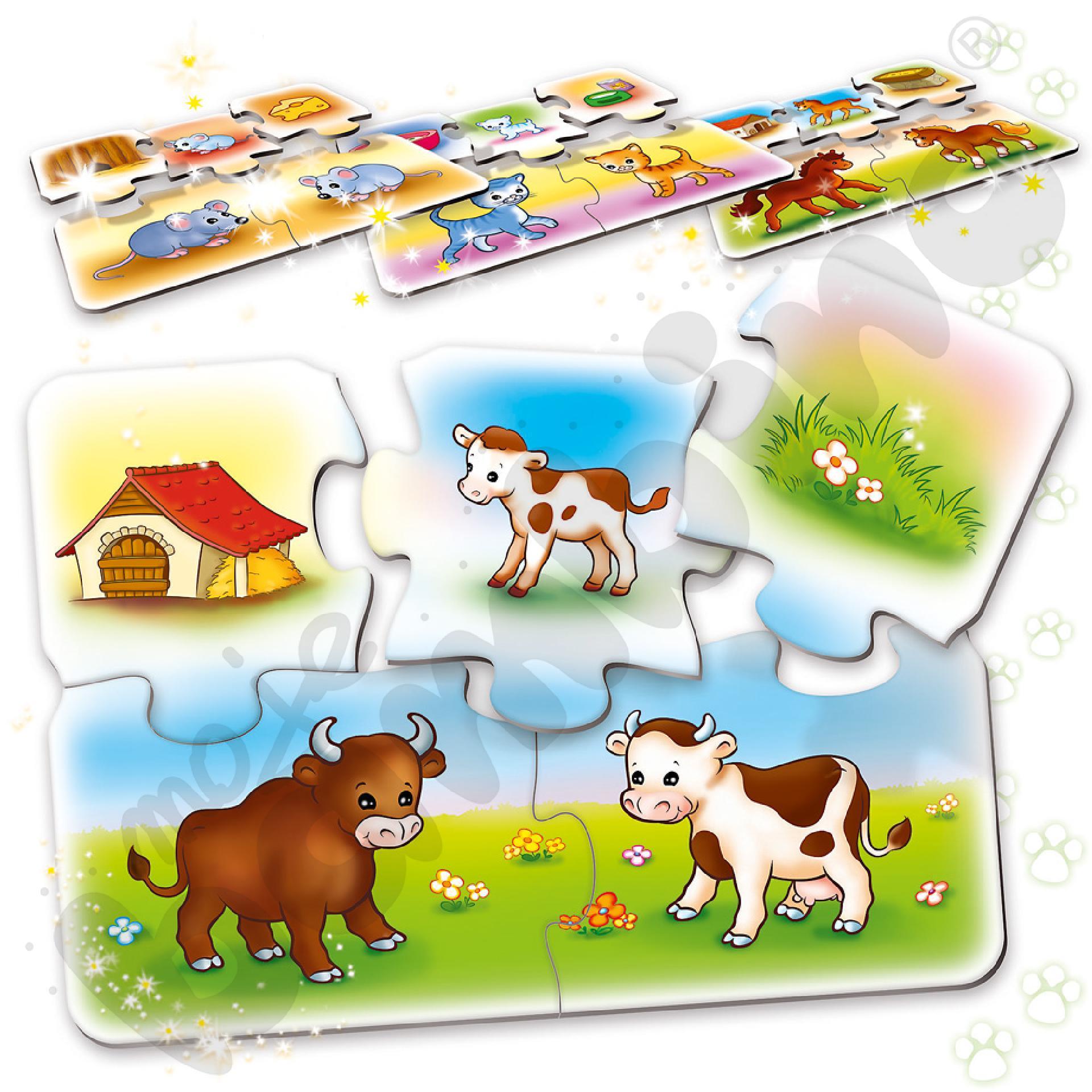 Puzzle poznajemy zwierzęta