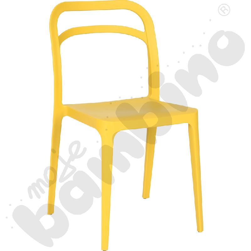 Krzesło Leon musztardowe