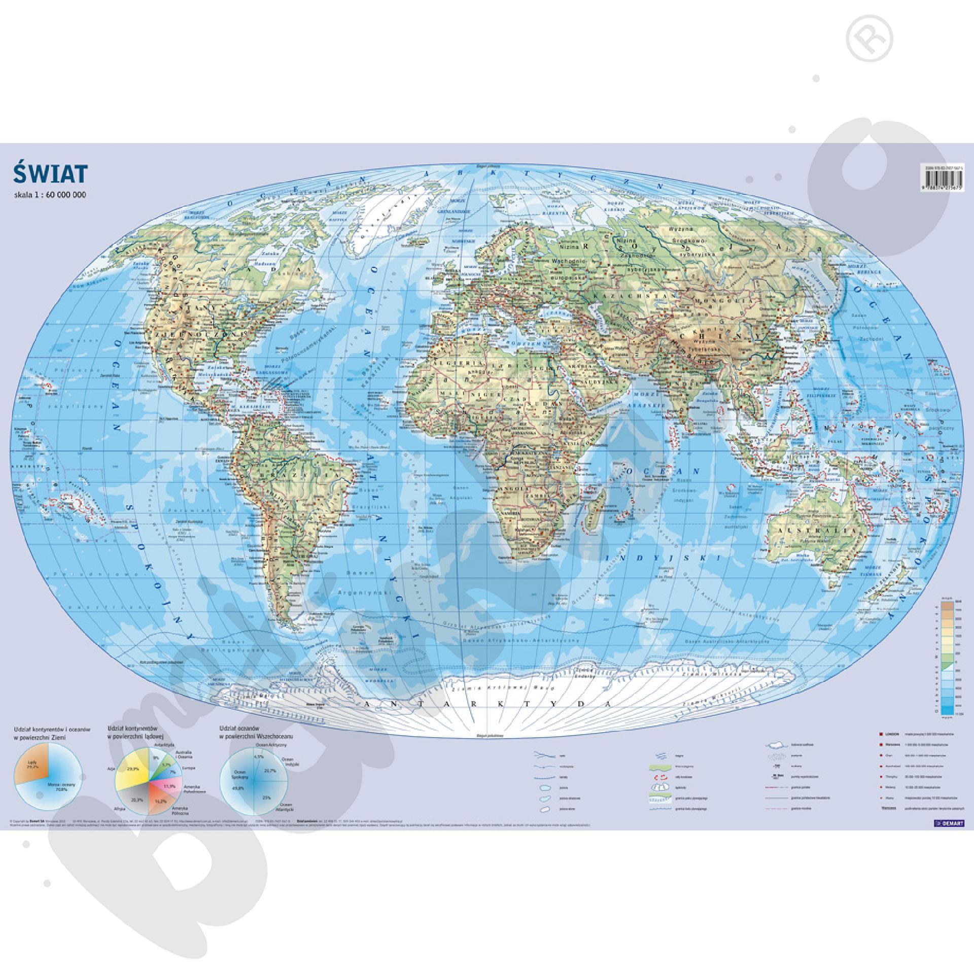 Świat - dwustronna mapa...