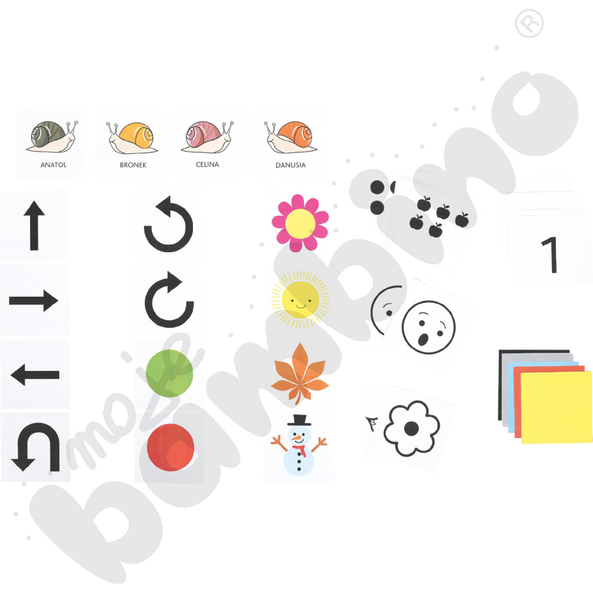 ABCD programowania - Plansza edukacyjna z pakietem ogólnym klocków ruchu do programowania