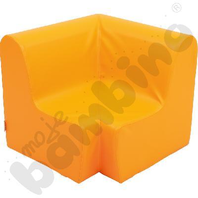 Duży fotelik rogowy pomarańczowy