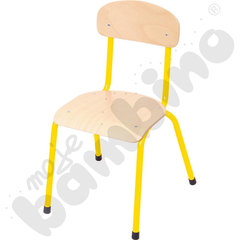 Krzesło Bambino rozm. 4 żółte