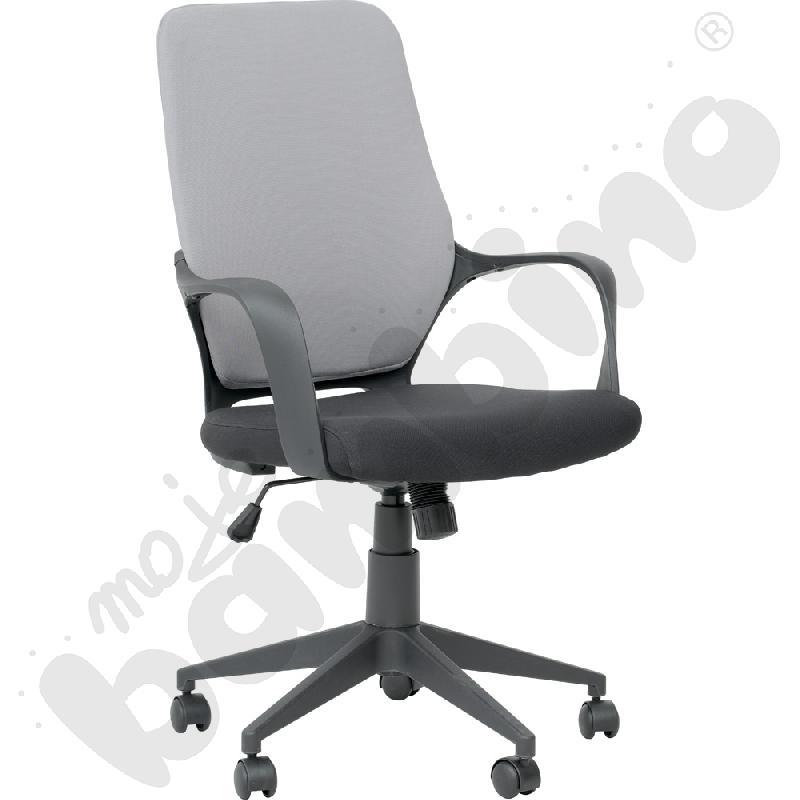 Krzesło obrotowe szaro czarne