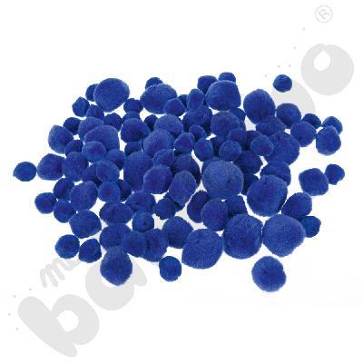 Zestaw pomponów niebieskich