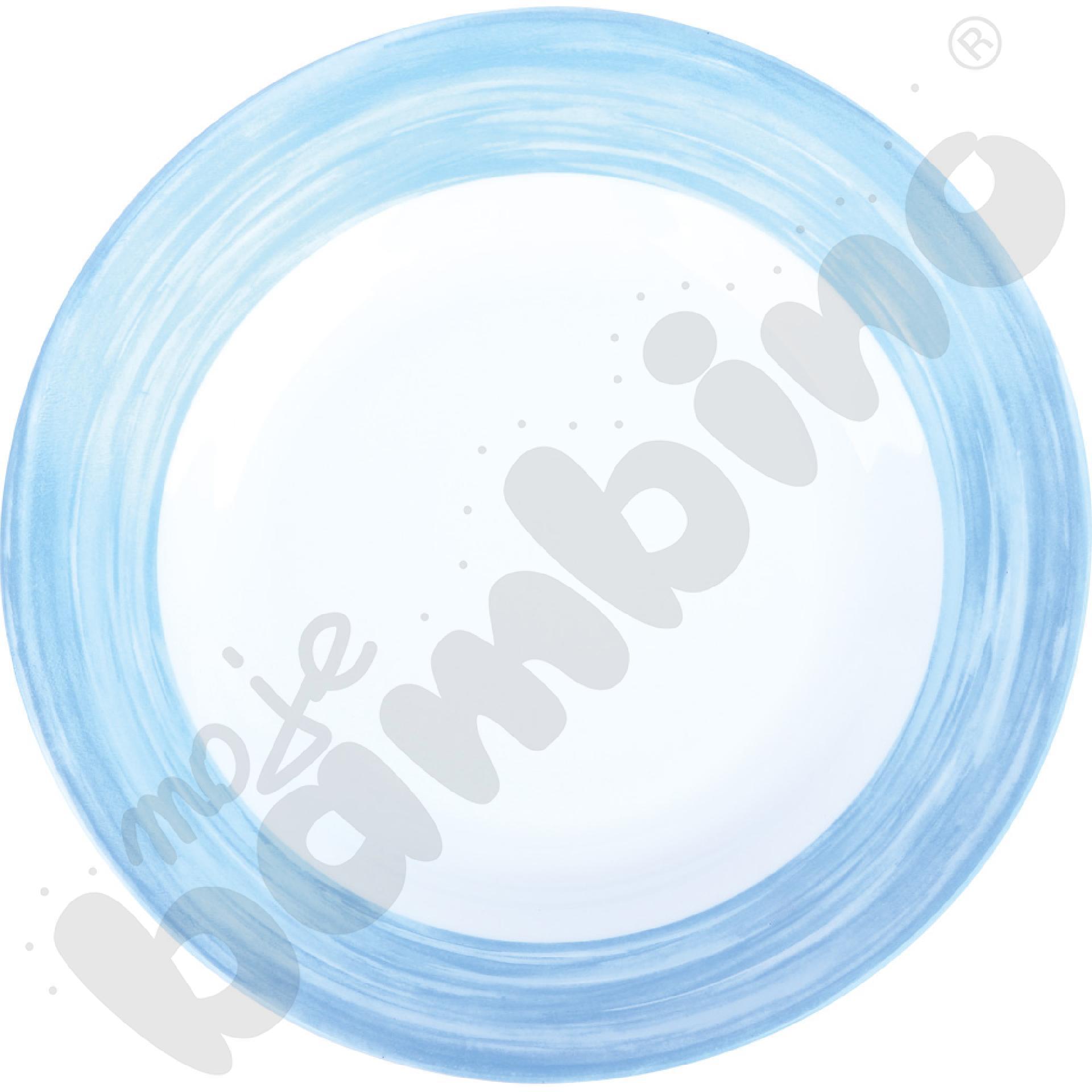 Talerz płaski Brush - niebieski