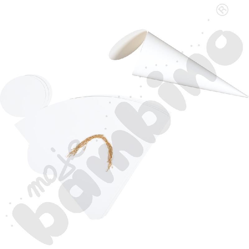 Rożek obfitości biały do ozdabiania - mały
