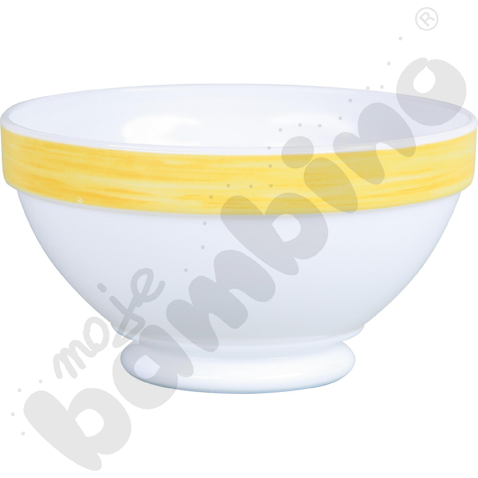 Miseczka obiadowa Brush - żółta