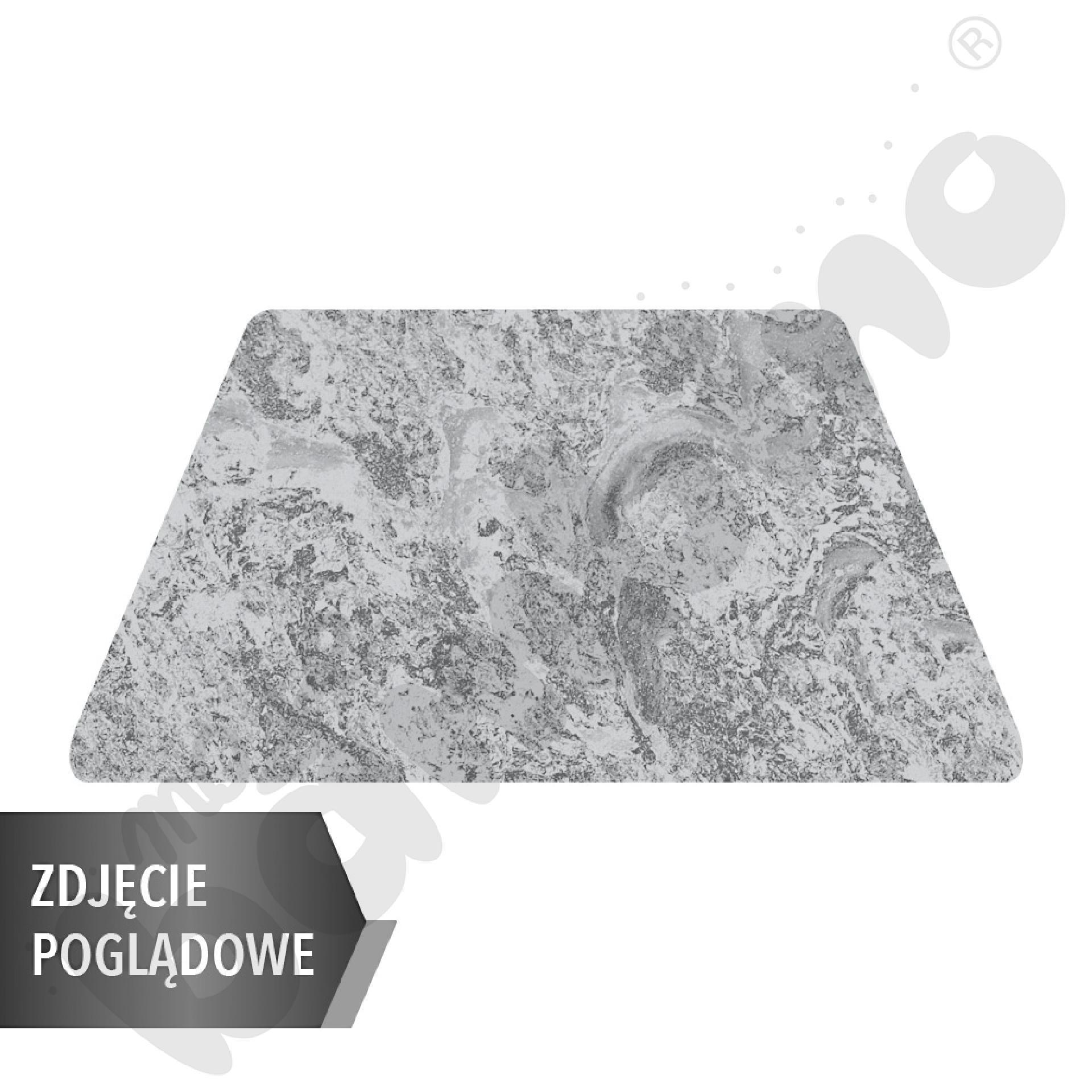 Cichy stół Plus trapezowy, 140 x 70 x 80 x 70 cm, zaokrąglone narożniki, rozm. 4 - szary