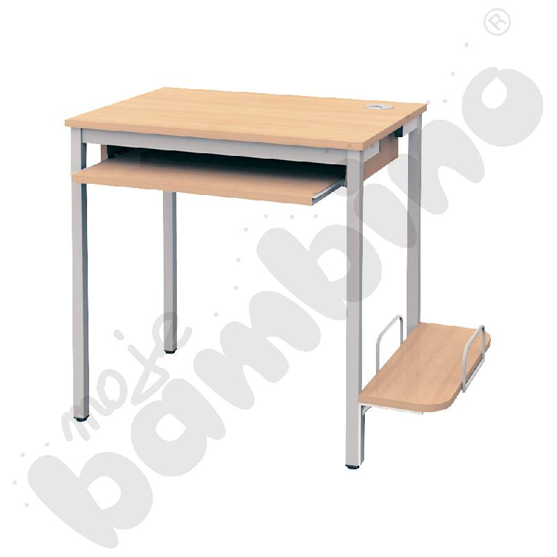 Stolik komputerowy STANDARD PLUS  z półką na komputer i szufladą na klawiaturę klon