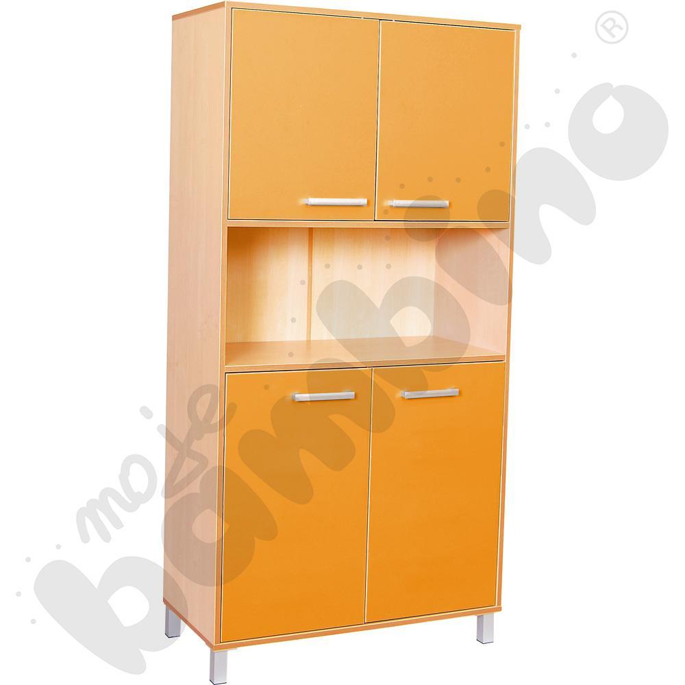 Szafa wysoka Premium z drzwiczkami - pomarańczowa