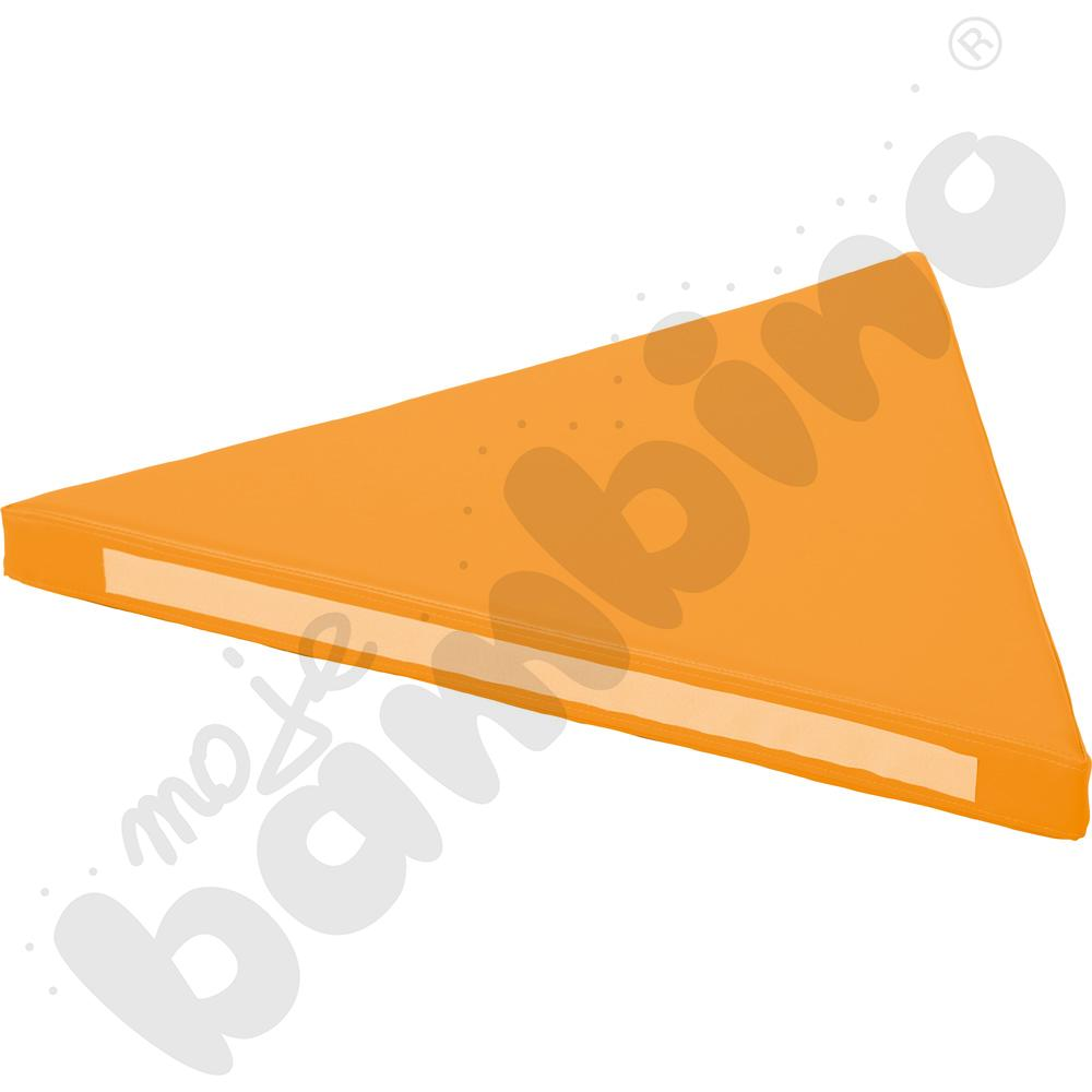 Materac trójkątny pomarańczowy - kształtka rehabilitacyjna