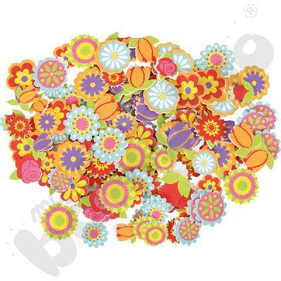 Piankowe naklejki - kwiatki