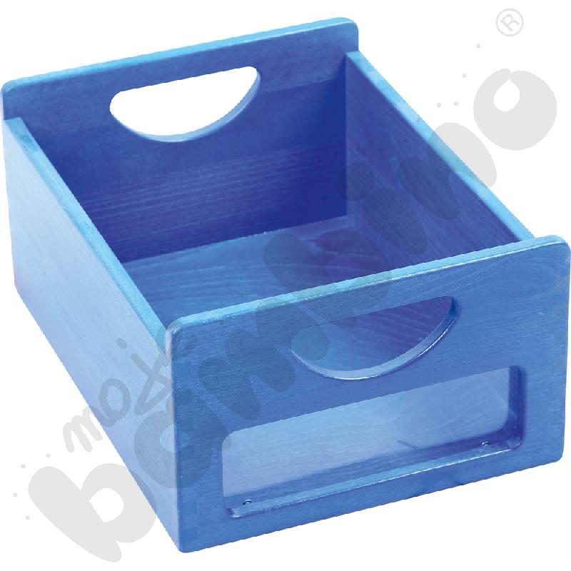 Pojemnik niebieski z okienkiem