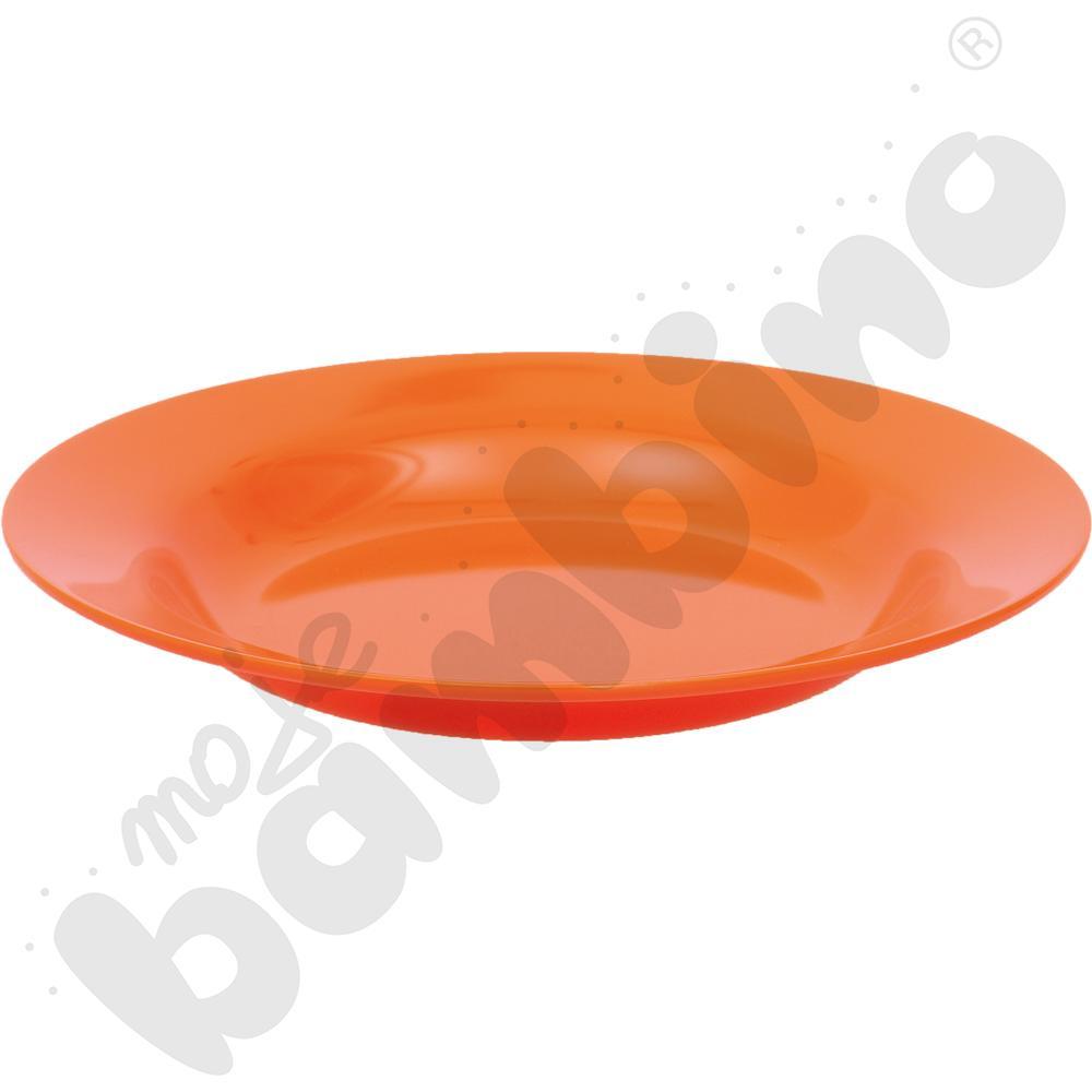 Głęboki talerz - pomarańczowy