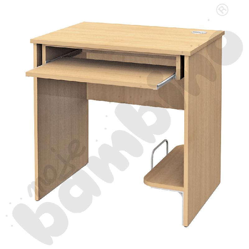 Stolik komputerowy STANDARD  z półką na komputer i szufladą na klawiaturę - klon