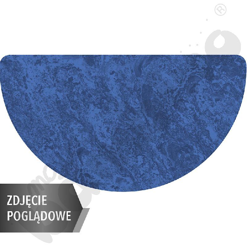 Cichy stół Plus półokrągły, 160 x 80 cm, zaokrąglone narożniki, rozm. 6 - niebieski