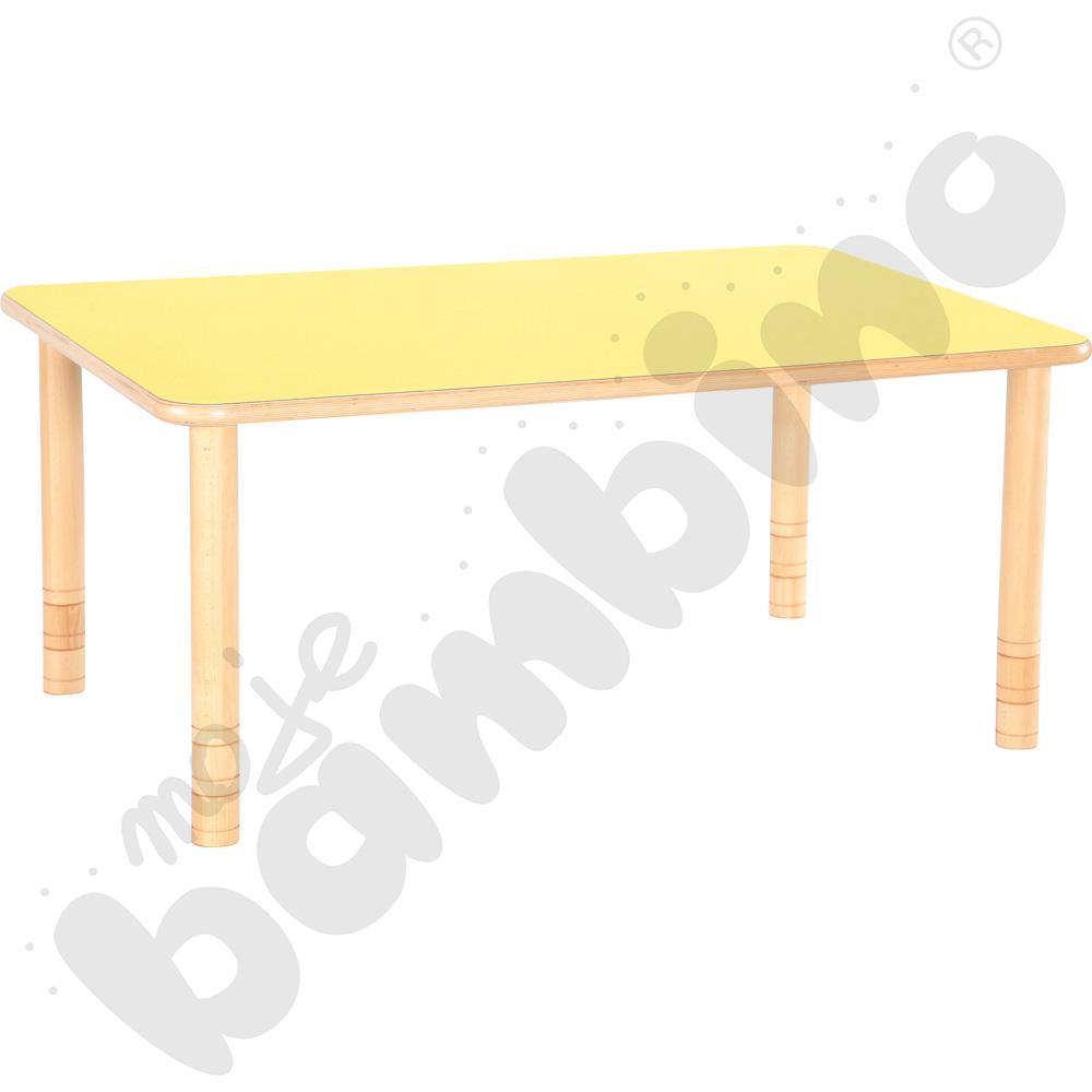 Stół Flexi prostokątny - żółty