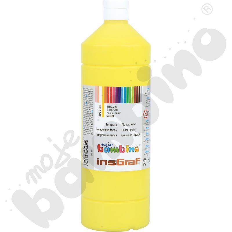Tempery pojedyncze kolory żółty