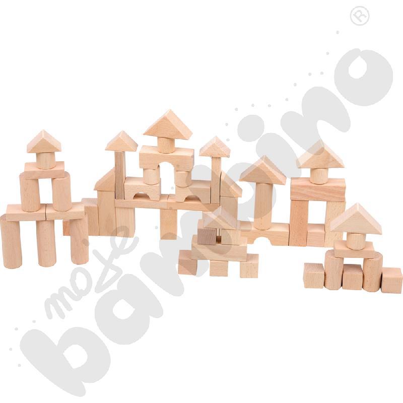 Drewniane klocki naturalne