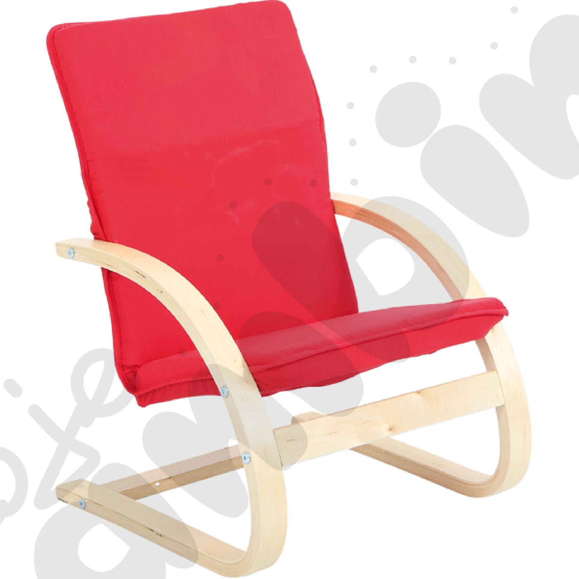 Mały fotelik - czerwony