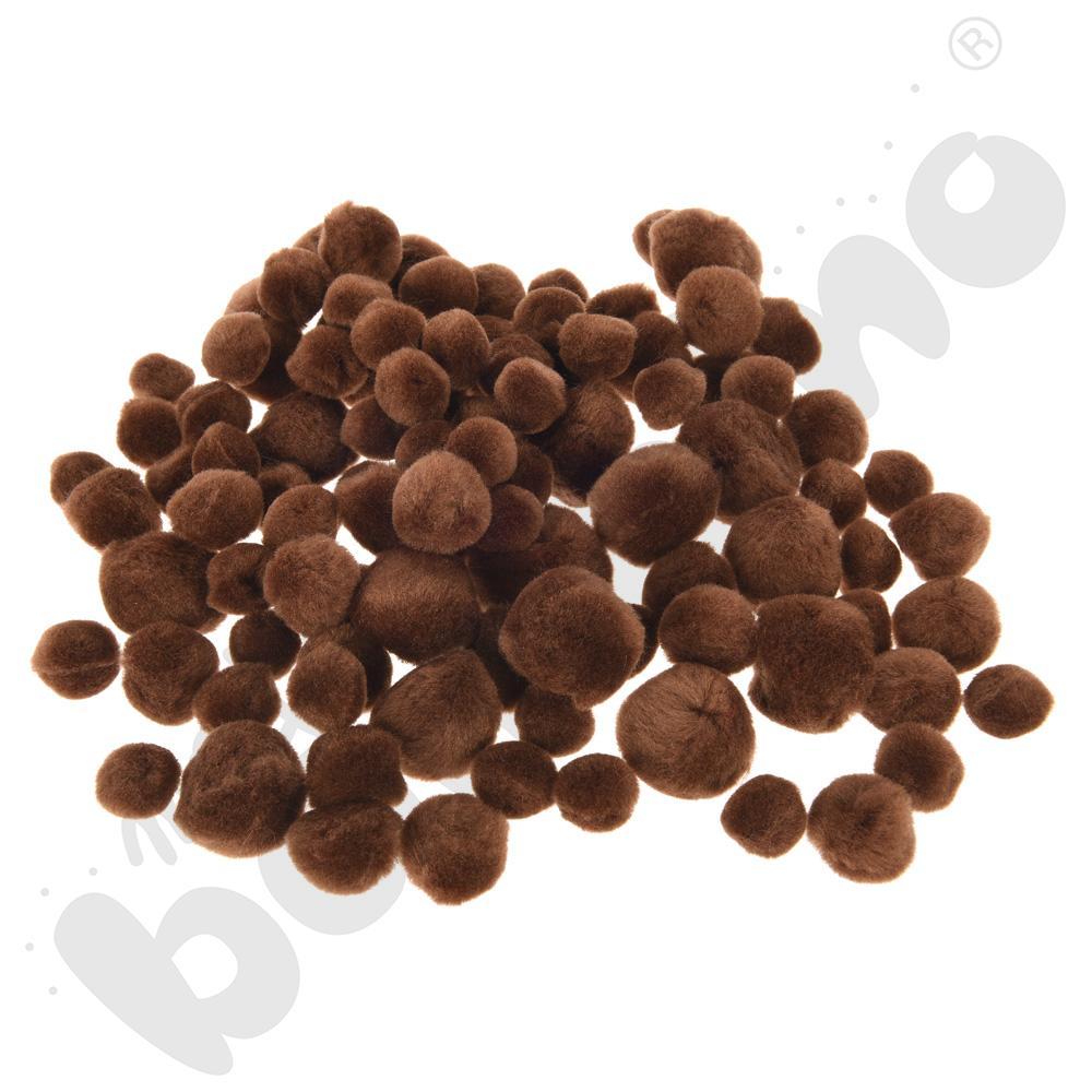Zestaw pomponów brązowych