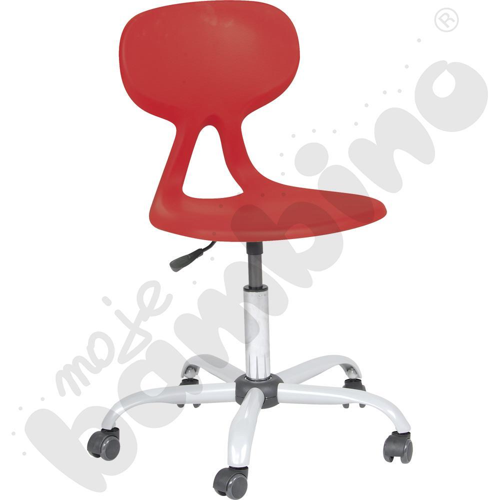 Krzesło Colores obrotowe na kółkach z reg. wys. bordowe
