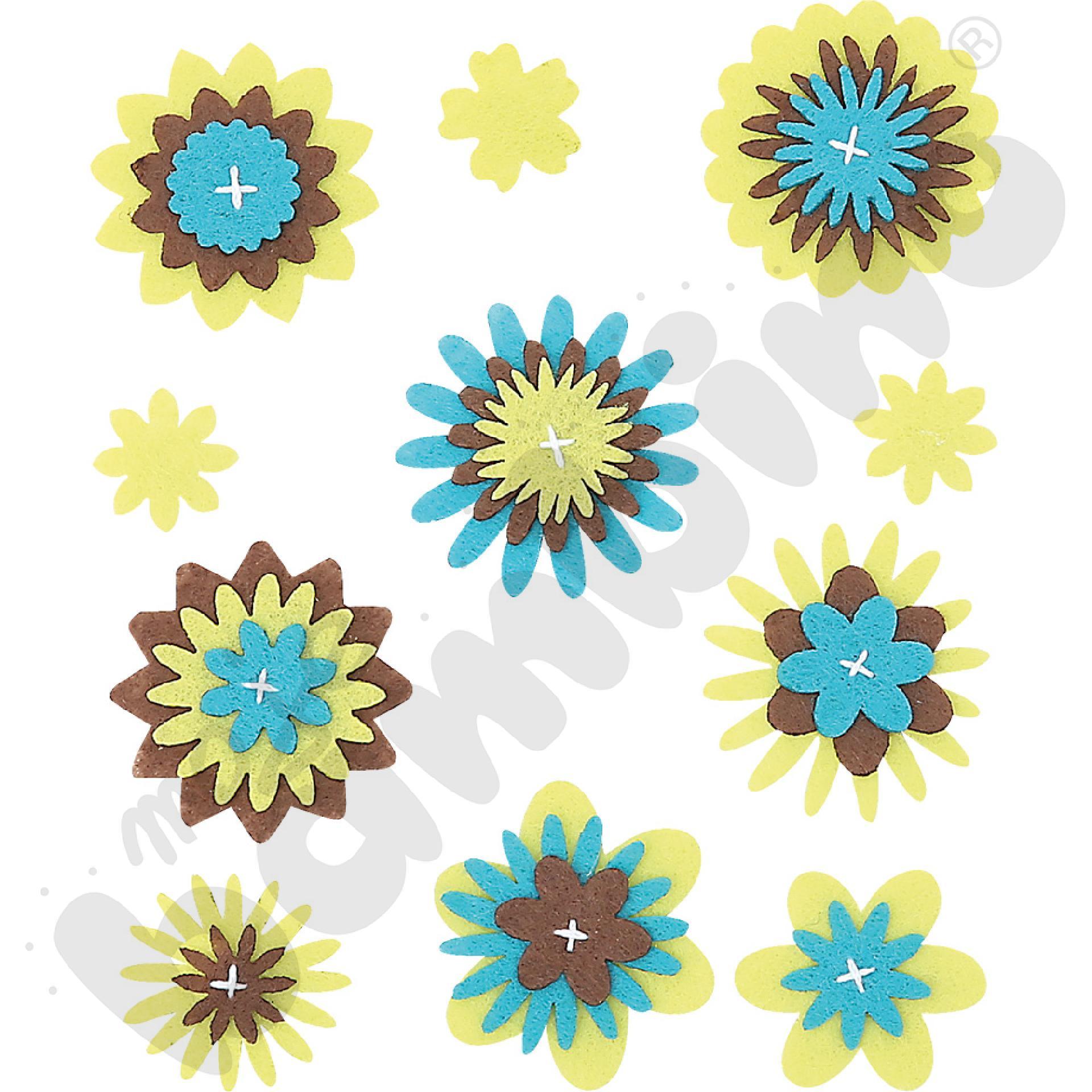 Dekoracyjne kwiatki z filcu