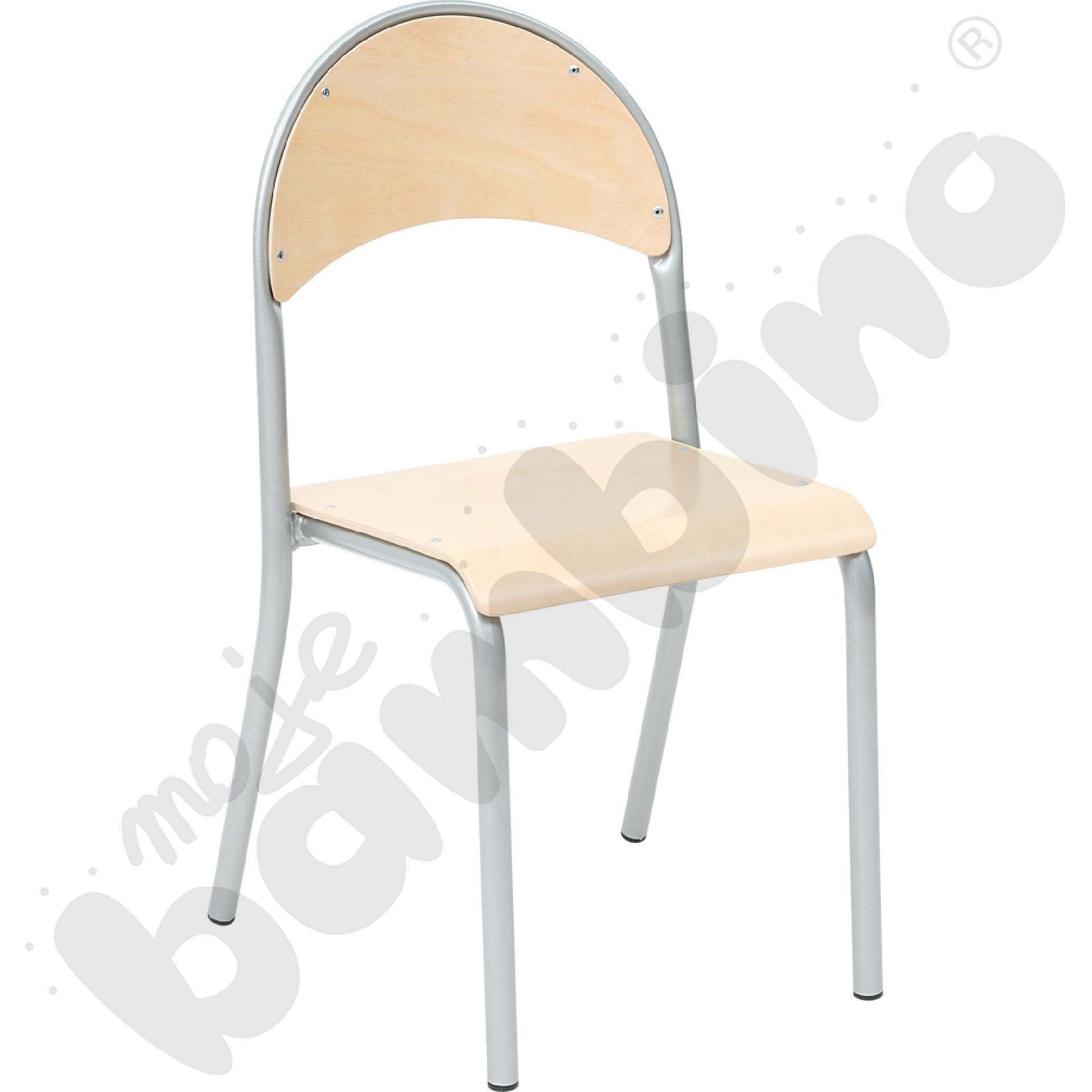 Krzesło P rozm.  5 srebrne