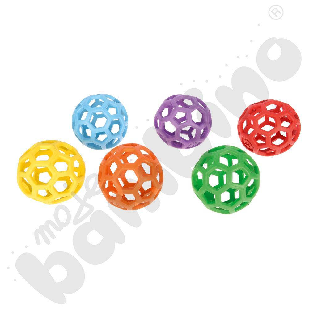 Piłki ażurowe miękkie śr. 12 cm - zestaw 6 szt.