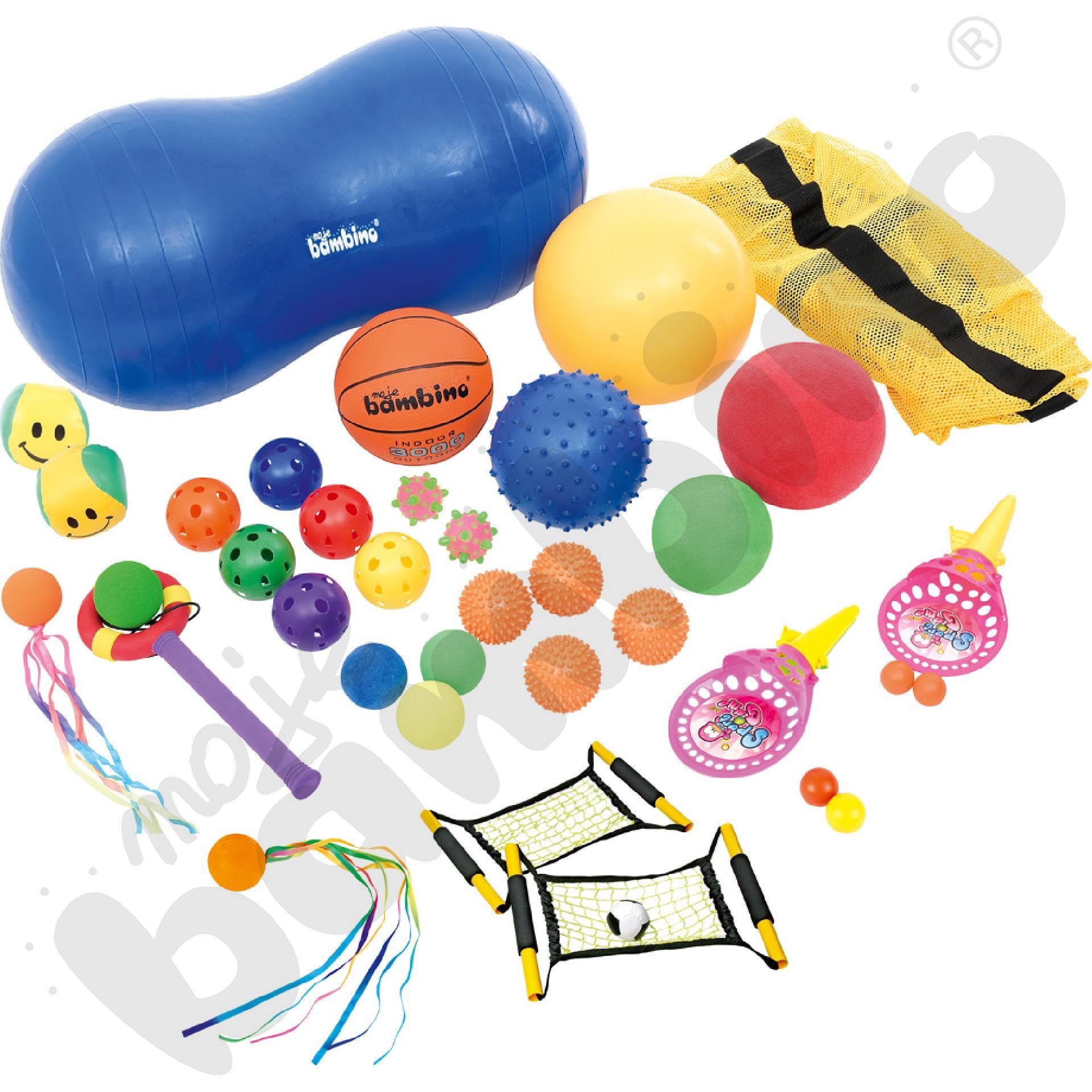 Zestaw piłek z torbą
