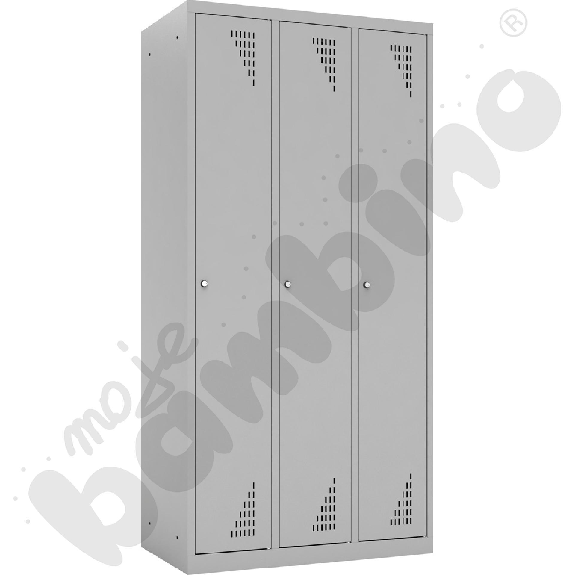 Szafa ubraniowa 3-modułowa drzwi popielate