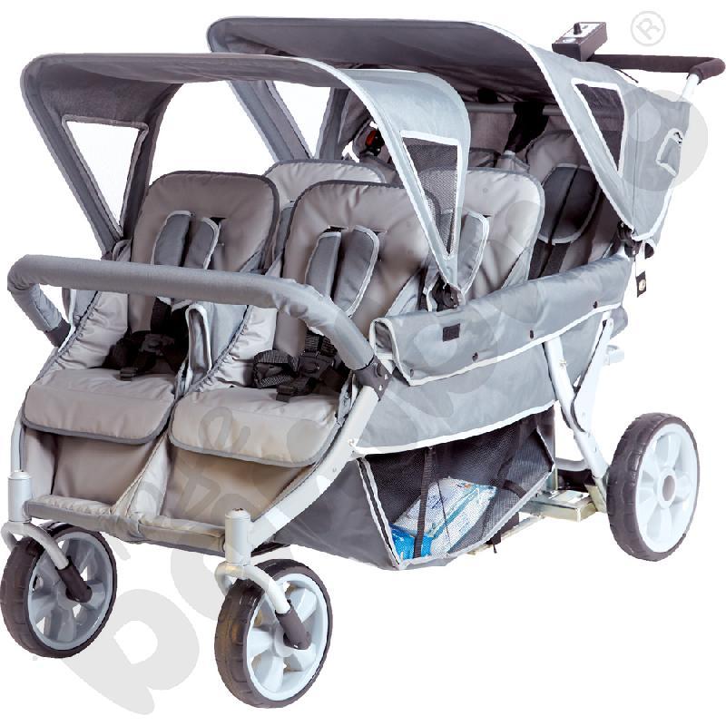 Wózek z napędem elektrycznym dla 6 dzieci