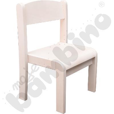 Krzesło Filipek bielone z filcową stopką