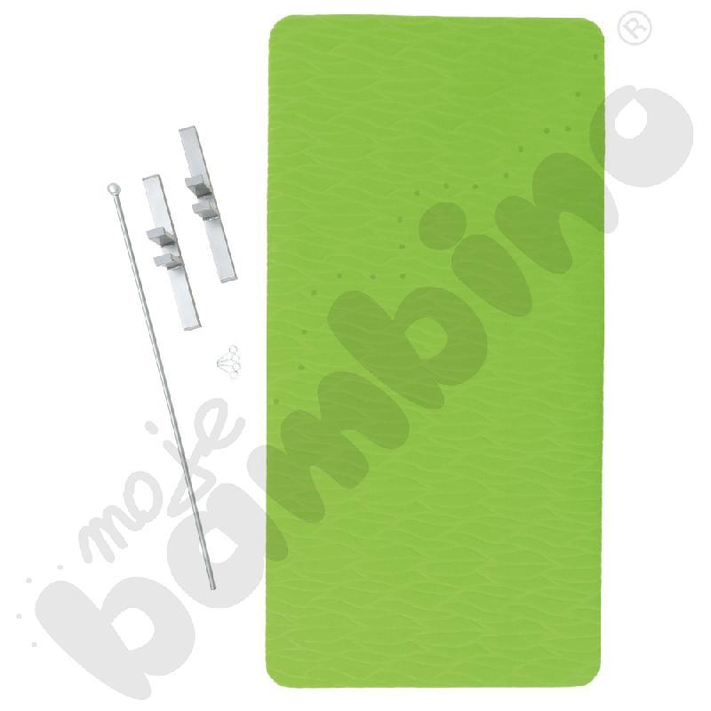 Parawan wyciszający wysoki - zielony