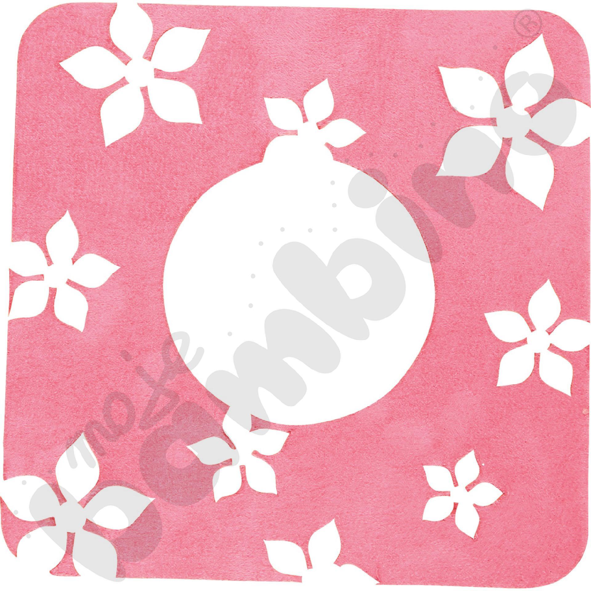Ochronka pod gniazdko - różowe kwiatki