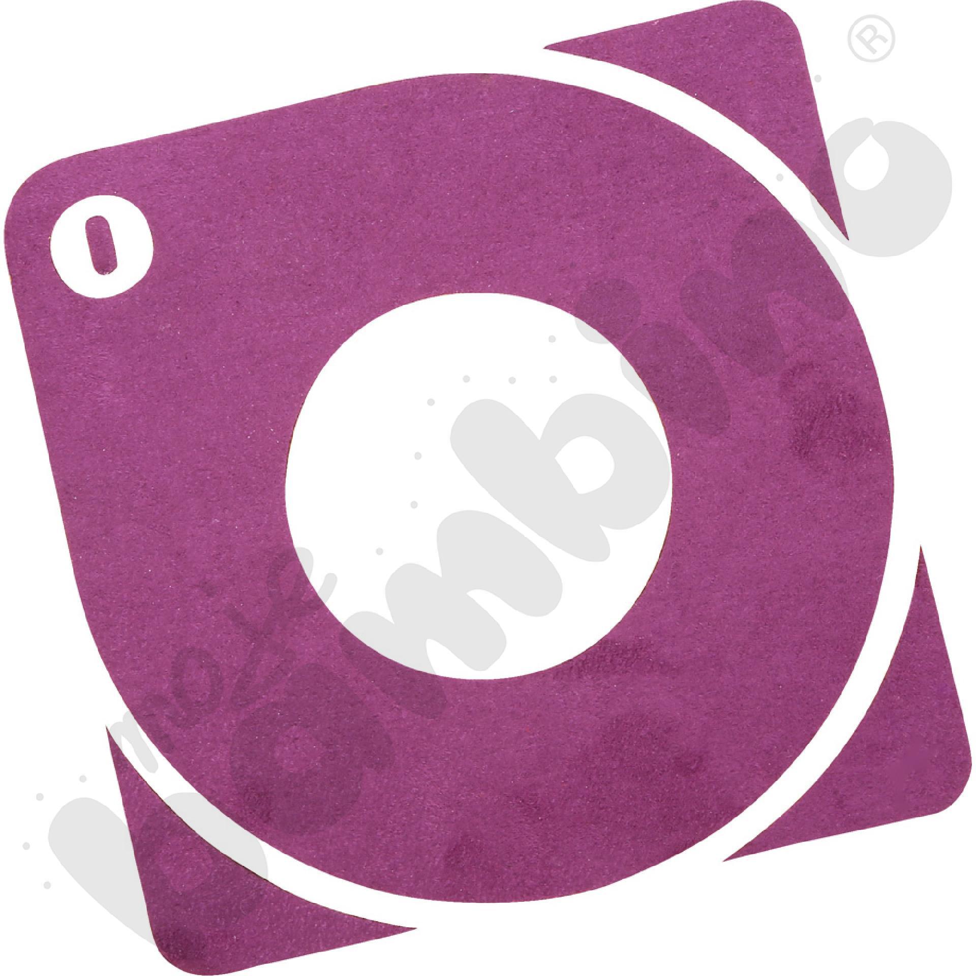 Osłonka pod gniazdko - fioletowe logo