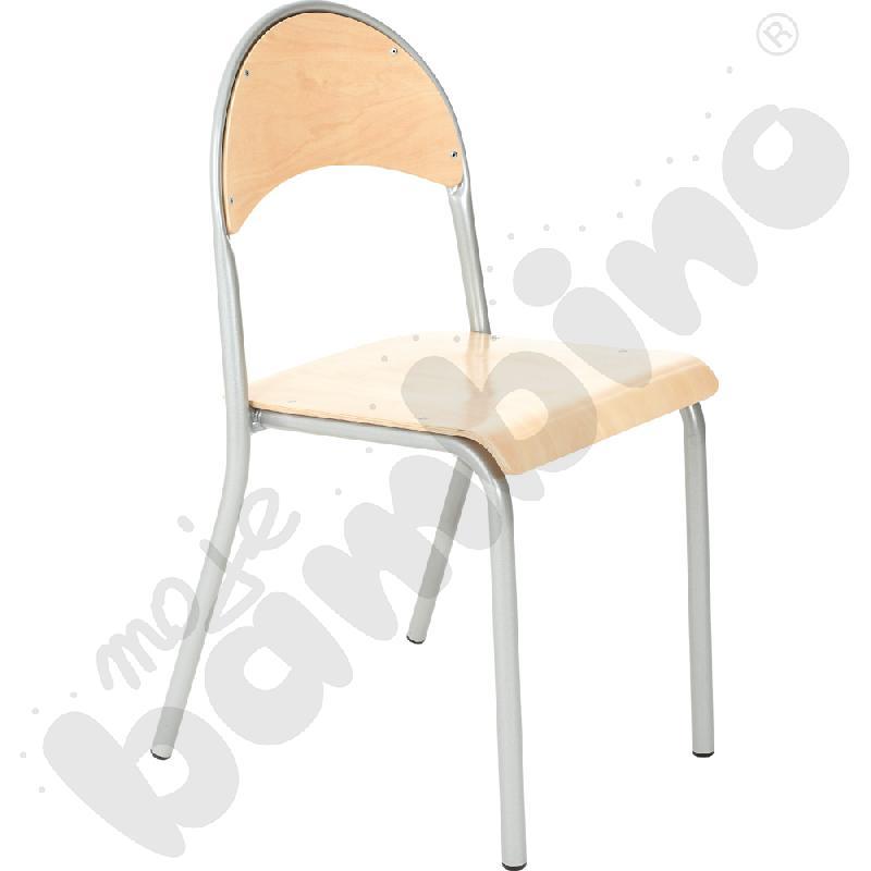 Krzesło P rozm.  6 srebrne