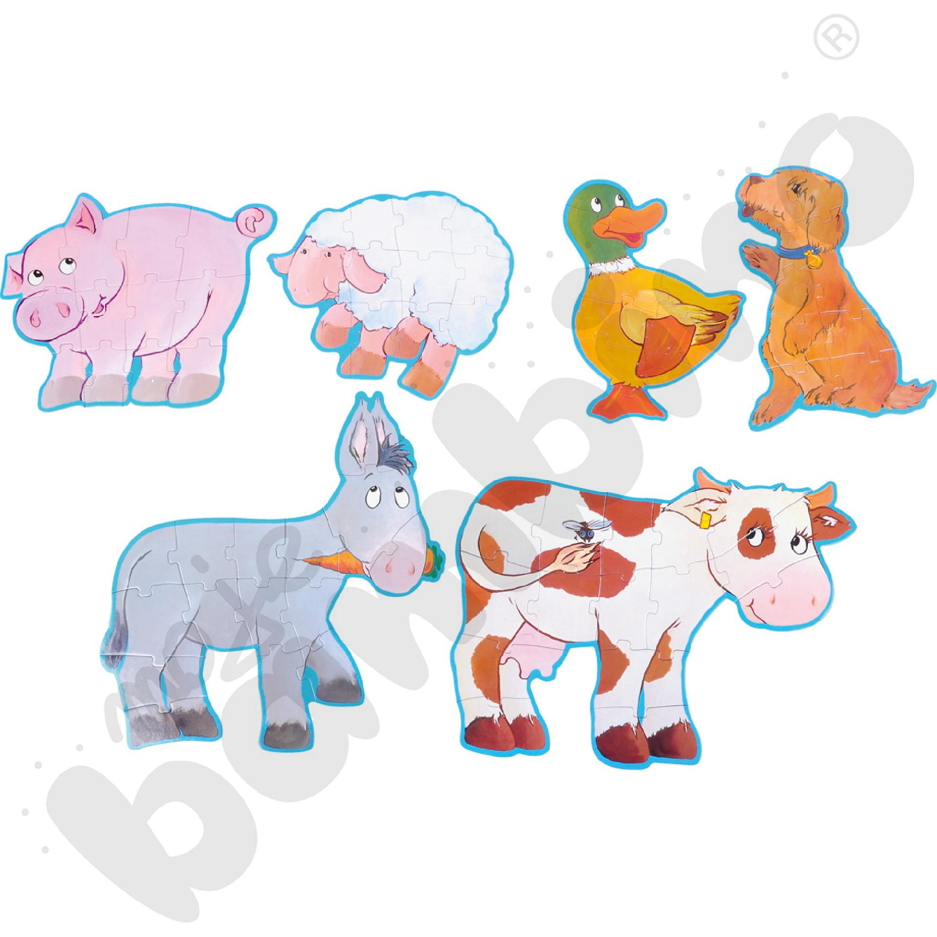 Zwierzakowe puzzle wieś
