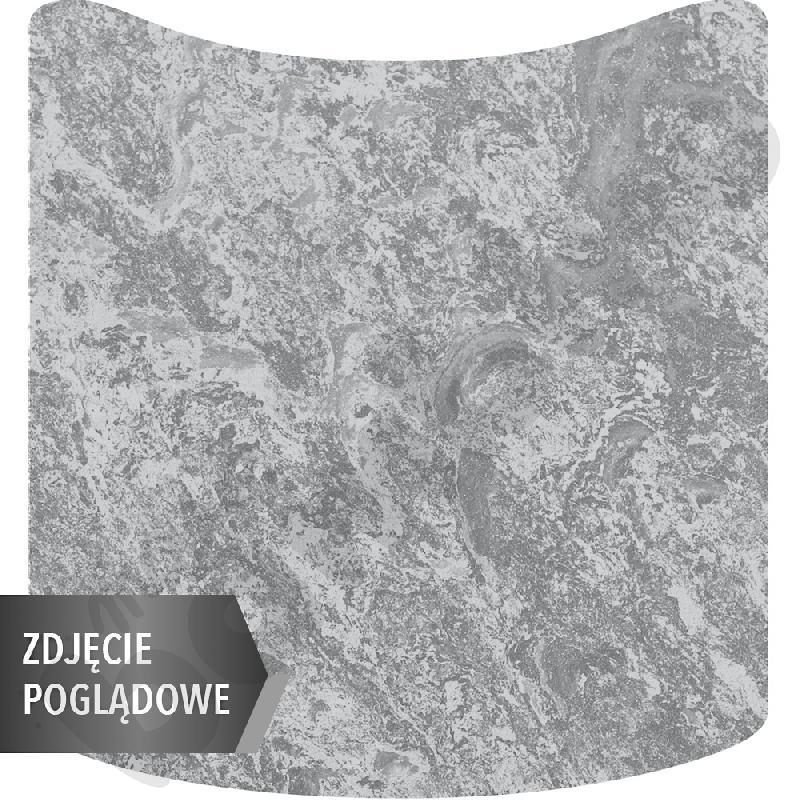Cichy stół Plus falisty mały, 70 x 72 cm, zaokrąglone narożniki, rozm. 6 - szary