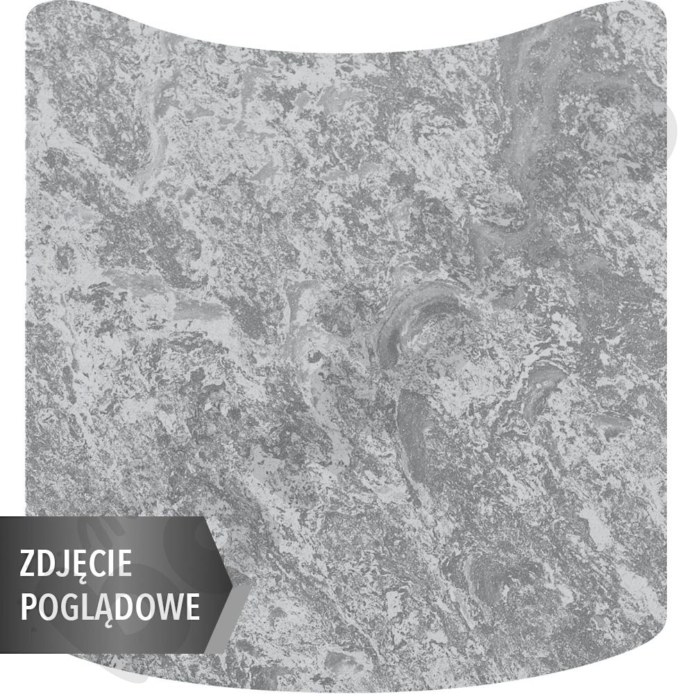Cichy stół falisty mały, 70 x 72 cm, zaokrąglone narożniki, rozm. 2 - szary