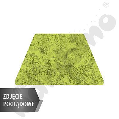 Cichy stół trapezowy, 140 x 70 x 80 x 70 cm, zaokrąglone narożniki, rozm. 5 - zielony