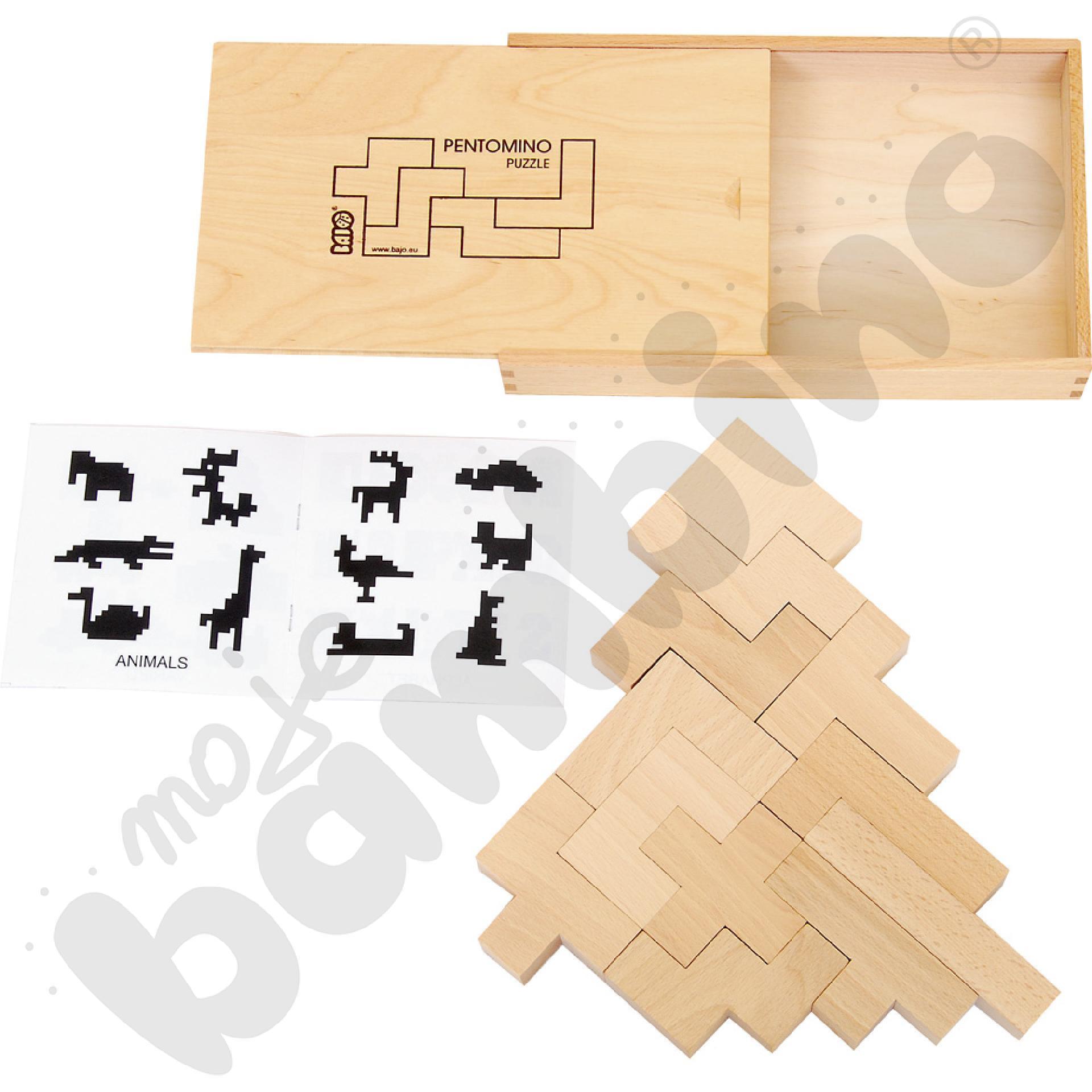 Pentomino drewniane