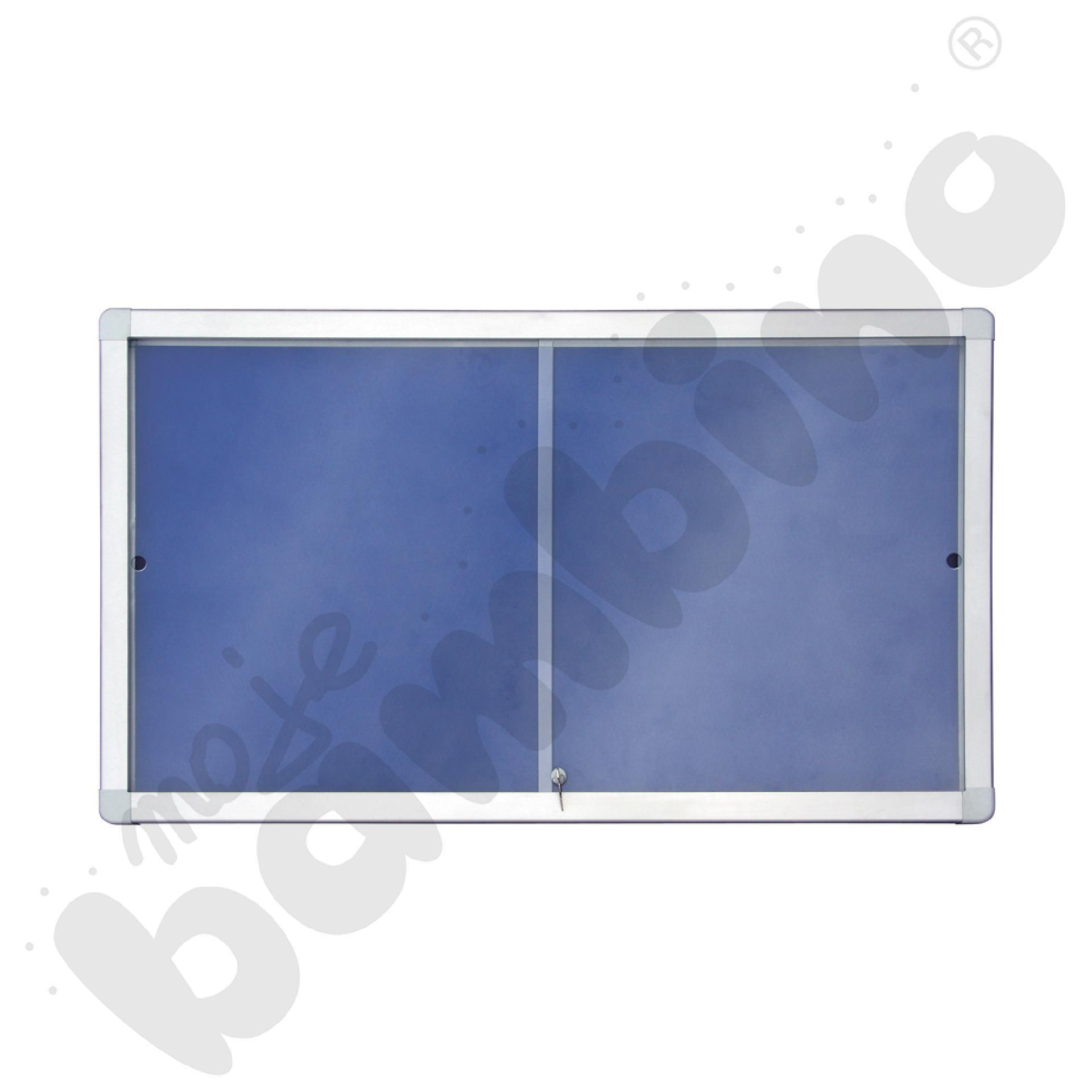 Gablota wewnętrzna tekstylna z przesuwnymi drzwiami 141 x 101 cm