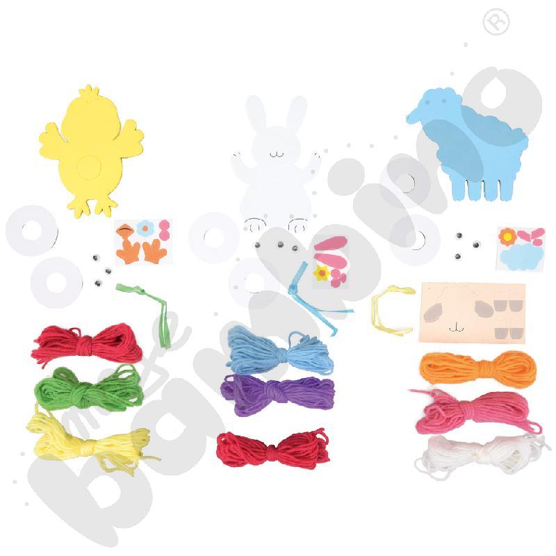 Wiosenne pompony - zestaw kreatywny
