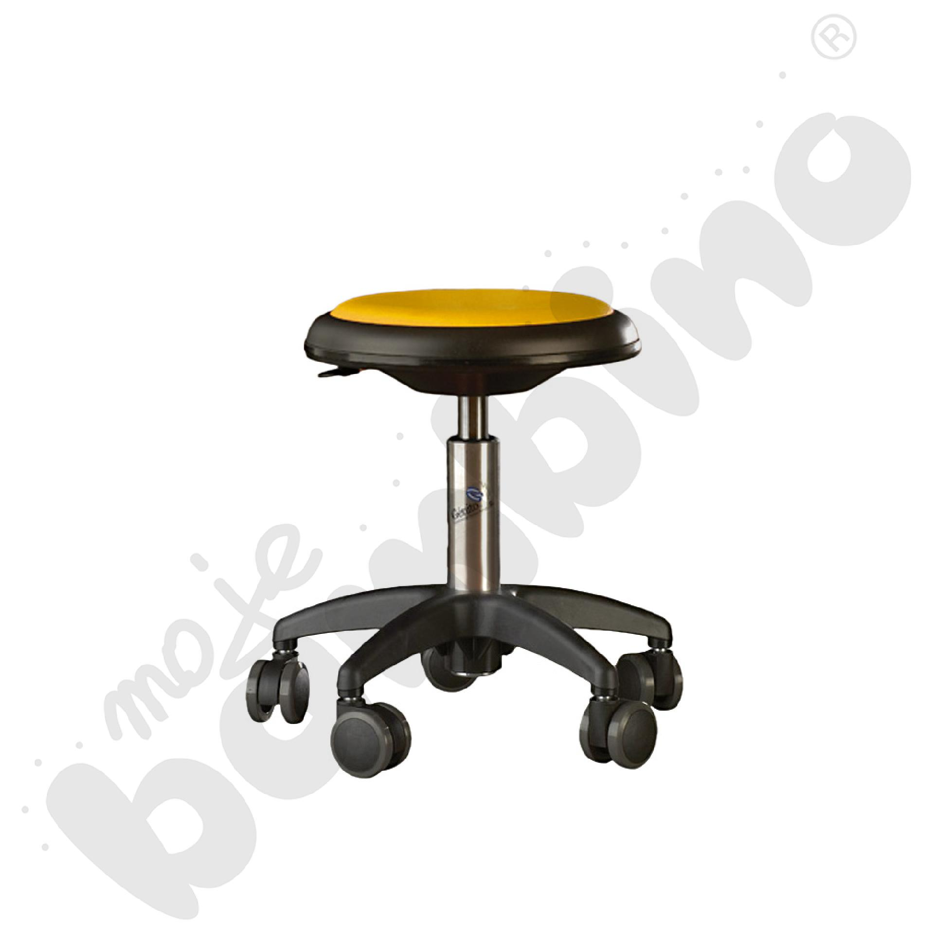 Krzesło Genito, wys. 30-38 cm - żółte